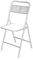 Imagem de Cadeira Dobrável Metalnew Millenium Prata
